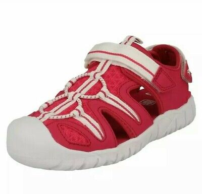 Girls Clarks Raspberry Pink Water Friendly Closed Toe Sandals UK 6 - 9.5 F NEW
