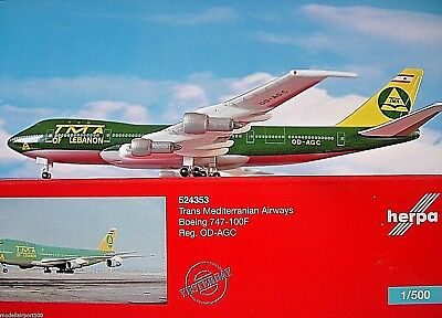 Herpa Wings 1:500  Boeing 747-100F TMA of Lebanon OD-AGC 524353 Modellairport500