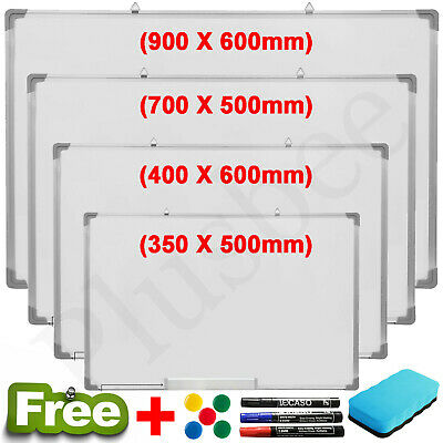 New Magnetic WhiteBoard Dry Wipe Notice Board With 3 Markers Home School Office
