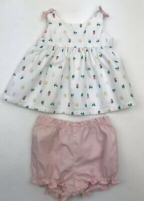 Gymboree Cactus Cutie Summer Outfit Set Baby Girl 6-12 Months Tank Shorts