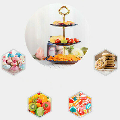 3 Tier Round Cupcake Cake Stand Tree Tower Plate Party Birthday Wedding Event AU