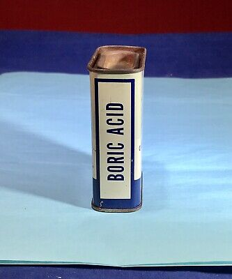 Vintage - Nowland's Landford - Boric Acid Powdered Tin - CINCINNATI, OHIO - 2 OZ