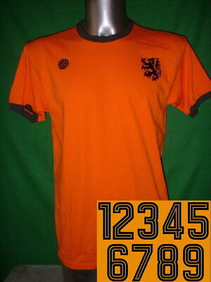 Holland Numbered XL Football Shirt New Jersey Soccer Cotton Retro Netherland