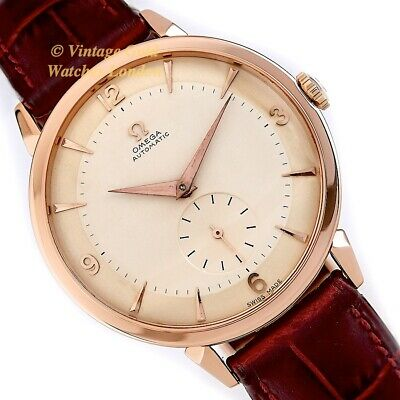 Omega Cal.491 Automatic, 18Ct Pink Gold, 1955, 37.5Mm - Two Tone Dial