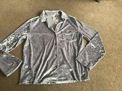 Victoria Secret Long-sleeved PJ Top Brand New With Tags - Small Sliver Velvet