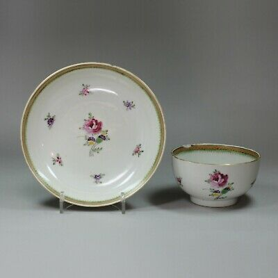 Antique Chinese famille-rose cup and saucer, Qianlong (1736-95)