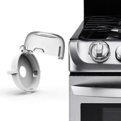 FJ- 2/4x Kitchen Household Gas Stove Knob Protection Cover Protector Safety Lock