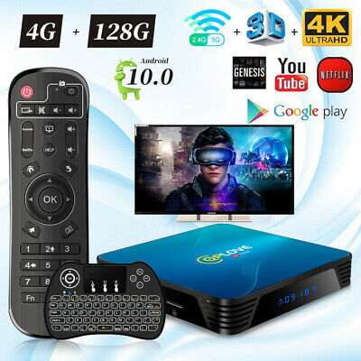 H96 Max+ Android 9.0 TV Box RK3328 4Go 32Go 2.4&5G WiFi Full HD 1080P Multimédia