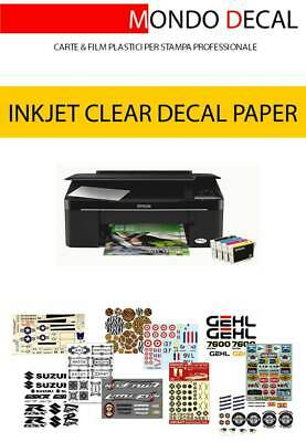 Waterslide Decal Paper Inkjet Kit: 6 Sheets A4 (3 Clear + 3 White)