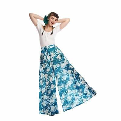 Bright & Beautiful Akiko Palm Print Trousers