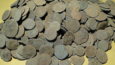 """10 Uncleaned """"as found"""" Roman Bronze Coins all unchecked - Limited Supply"""