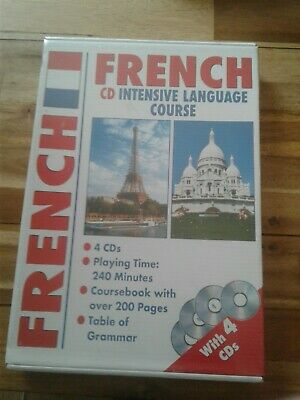 FRENCH CD INTENSIVE LANGUAGE COURSE COURSEBOOK PLUS 4 CDs NEW & SEALED