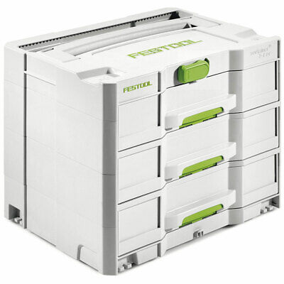 Festool 200119 Heavy Duty Sortainer SYS 4 T-LOC with 3 Large Drawers