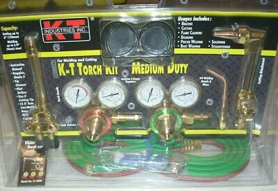 KT Industries 31-5000 Cutting Welding Torch Regulator Outfit Oxy Acetylene Kit