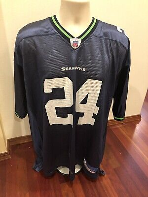 fa6a67b56 SHAWN SPRINGS #24 Seattle Seahawks NFL Football Reebok Jersey Mens Large XL
