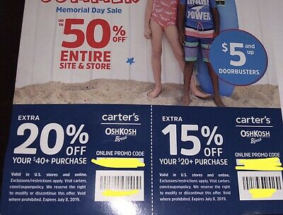 Carters Coupons 20 Off 40 And 15 Off 20 Purchase Exp June 18