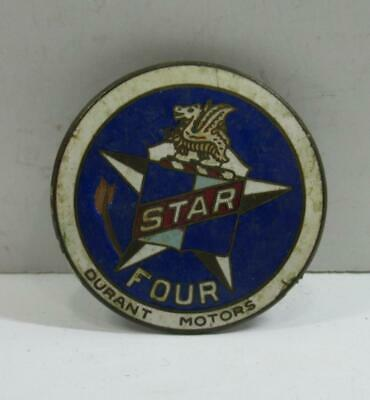 Durant Motors Star Four car radiator grill emblem badge porcelain enamel