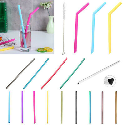 Stainless Steel/Bamboo/Silicone Reusable Drinking Straw for Milk Coffee Supply