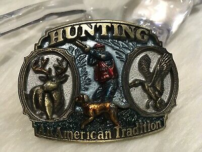 Vintage Hunting An American Tradition Belt Buckle Made in USA 1986
