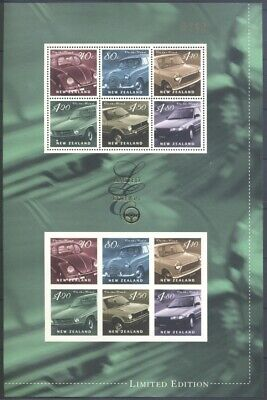 Neuseeland New Zealand - 2000 Limited Edition 18 Autos Cars 1836-41 Bogen **