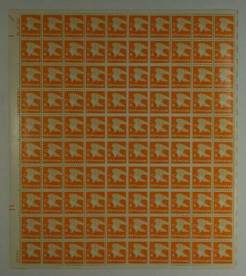Us Scott 1735 Pane Of 100 A Eagle Us Postage Stamps 15 Cent Face Mnh.