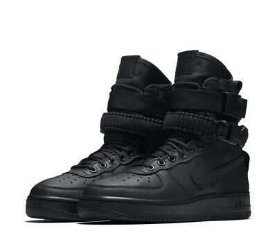 new concept 55951 ffd4f NEW Nike SF Special Field Air Force 1 Womens Size 9.5 Triple Black 857872  002