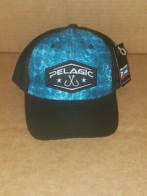 459916ec8f206 PELAGIC TRUCKER FISHING Black Hydro Snapback Fishing Hat 1202181005 ...