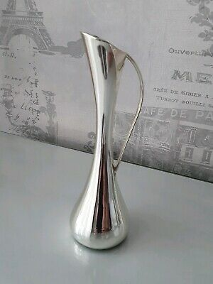A Vintage, Silver Plated Bud Vase With Handle By Highland