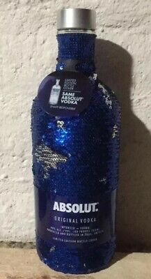 Super Rare Absolut Vodka Holiday Bottle SEQUIN 750ML 2017 Limited Edition Empty
