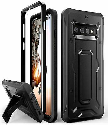 Heavy Duty Case for Galaxy S10 Plus, Military Grade  with Kickstand   Black