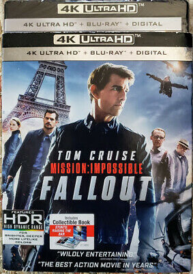 Mission: Impossible Fallout 4K Uhd + Bluray + Digital With Collectible Book