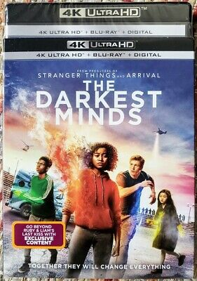 The Darkest Minds 4K Uhd + Bluray 2-Discs No Digital Slipcover Free Shipping
