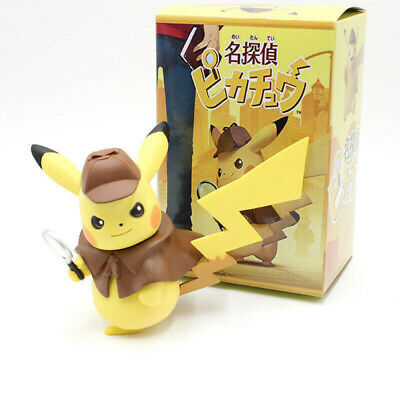 Detective Pokemon Pikachu Figure Doll Toys cool Cute 2019 Pokemon New Movie