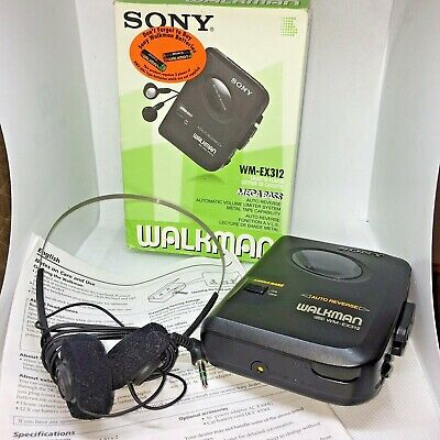Sony Walkman WM-EX312 Cassette Player Mega Bass Avls Auto Reverse Metal Tape