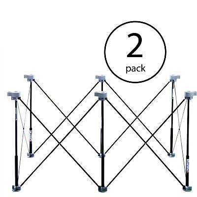 Centipede Tool Expandable 2 x 4 Foot Portable Sawhorse Work Support (2 Pack)