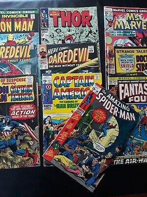 Silver/Bronze Age Mixed Marvel Lot Of 10 Very Good - Fine