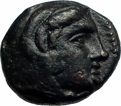 AMYNTAS III of Macedonia 393BC Hercules Eagle Serpent Ancient Greek Coin i77421