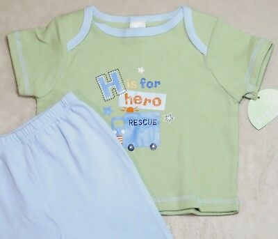 New Circo Newborn 2Pc Baby Boy H Is For Hero Rescue Shirt & Pants Outfit