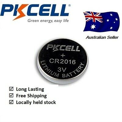 5x PKCELL CR2016 3V Cell Coin Lithium Button Battery Batteries Stock in Sydney,