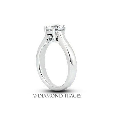 3.12ct Tw H-SI2 Idéal Rond Véritable Diamants 14ct or Cathedral Accents Bague