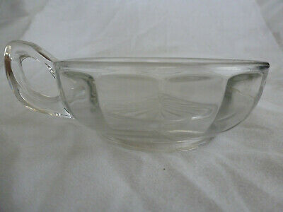 Vintage Etched Clear Glass Nappy Candy or Relish Dish