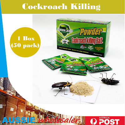 Au New 1 Box 50 x 5g Cockroach Killing Bait Powder