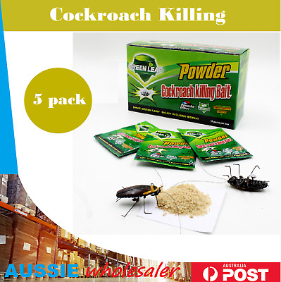 Au New 5 x 5g Cockroach Killing Bait Powder AU