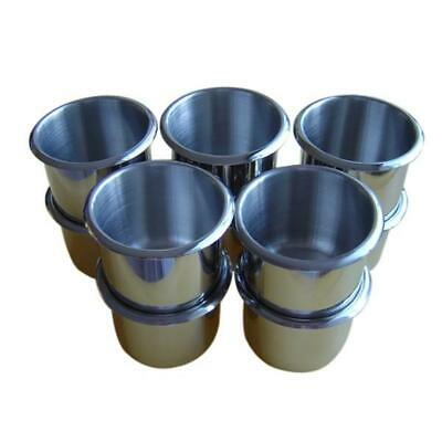 10PCS Regular Size Stainless Steel Poker Table Cup Holders