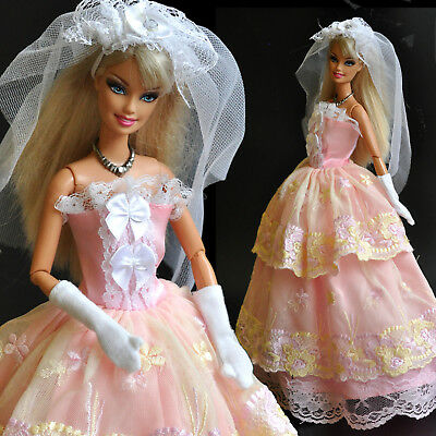 Nice 'WEDDING COLLECTION' Long princes (No.10) for 1/6 (11.5 Inch) BJD Doll