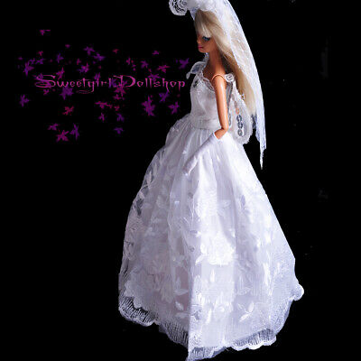 Nice 'WEDDING COLLECTION'  White princes Dress (No.1) for 1/6(11.5Inch) BJD Doll