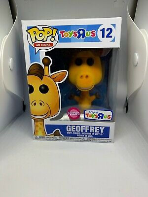 New Funko POP! Geoffrey Toys R Us Exclusive Flocked Vinyl Figure #12 Ad Icons