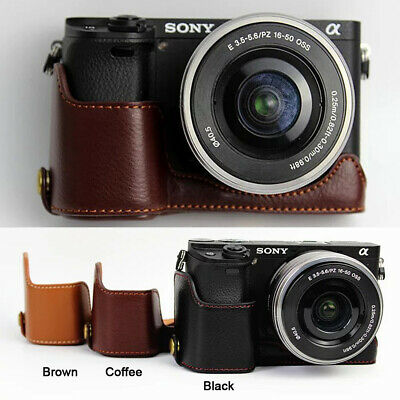 Genuine Real Leather Half Camera Case Grip for Sony alpha A6400 A6300 A6000