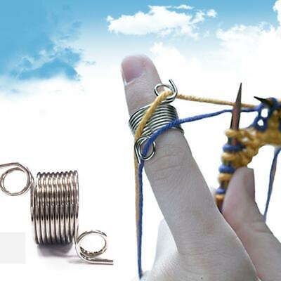 Ring Knitting Sewing Tool Finger Wear Thimble Yarn Spring Guides Needle Thimble