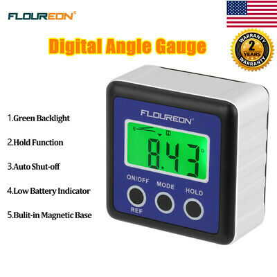 Digital Inclinometer 360° Level Box Protractor Angle Finder Gauge Meter Bevel US